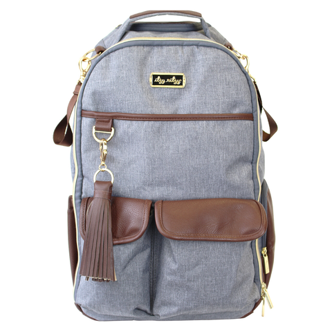 Handsome Heather Gray Boss Backpack™ Diaper Bag