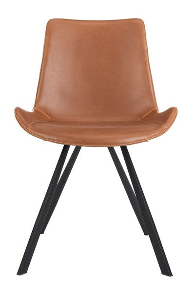Terra Mid-century Modern Dining Chair - Set of 2 - Cognac