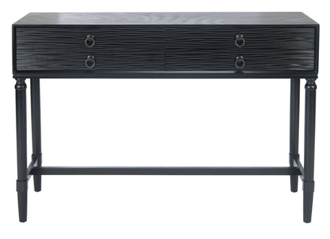 Aliyah 4 Drawer Console Table - Black