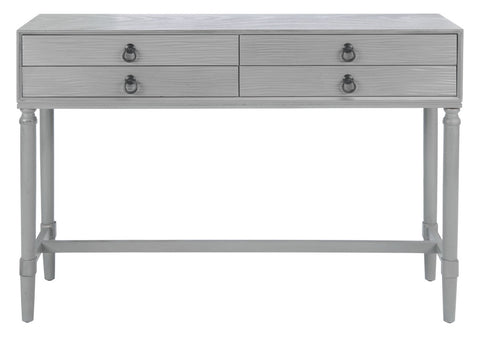 Aliyah 4 Drawer Console Table - Grey