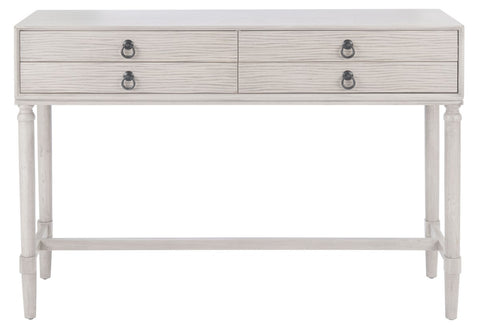 Aliyah 4 Drawer Console Table - Cream