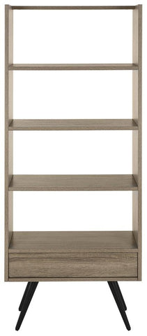 Terrence Retro Mid Century Wood Etagere