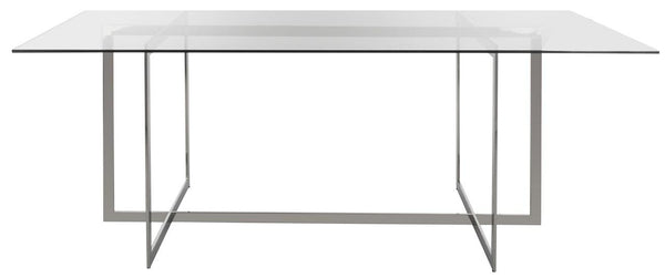 Fidel Polished Glass Top Dining Table