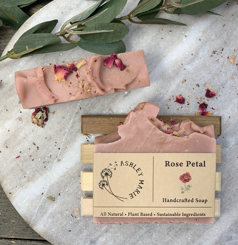 The Rose Petal Ashley Marie Handmade Soap