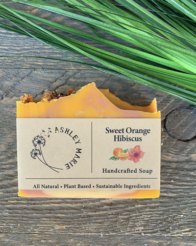 The Sweet Orange Hibiscus Ashley Marie Handmade Soap