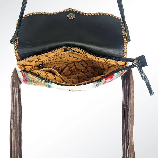The Going Places Crossbody - Black Cow Hide