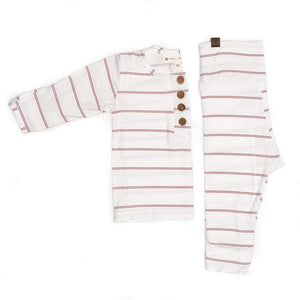 Papillonbebe Top + Bottoms - Striped Rose