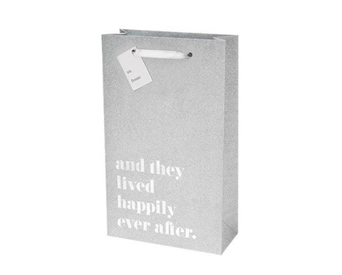 Happily Ever After Silver Double Bottle Bag