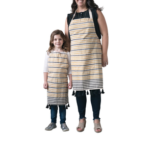 Yellow and Black Stripe Apron