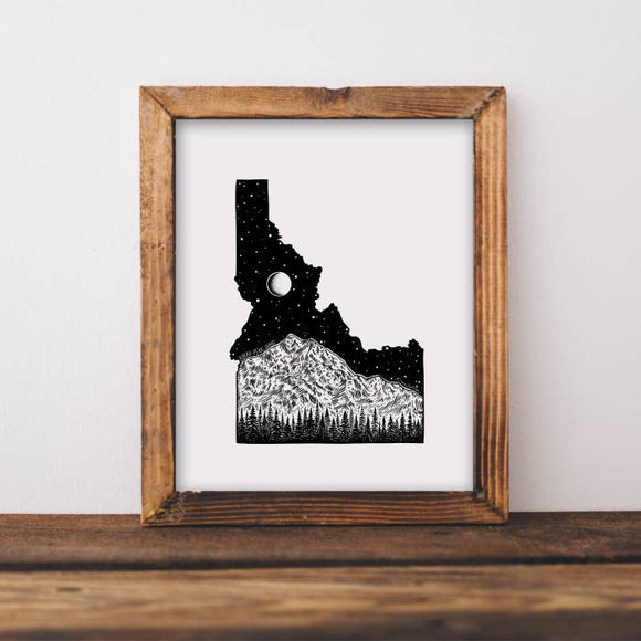 Idaho and Borah Peak Art Print