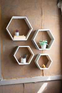 Recycled Hex Shelves