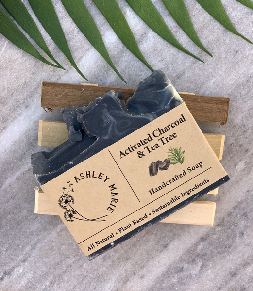 The Activated Charcoal and Tea Tree Ashley Marie Handmade Soap