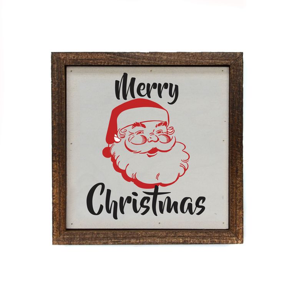 """Merry Christmas Santa"" - Made in USA Wooden Wall Hanging"
