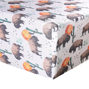 Copper Pearl - Bison Premium Crib Sheet