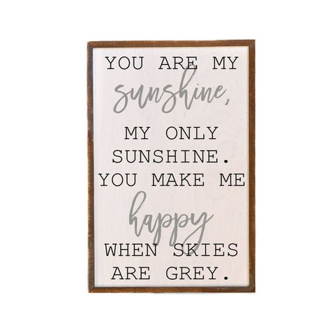 """You Are My Sunshine"" - Made in USA Wooden Wall Hanging"