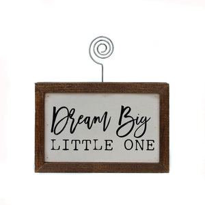 """Dream Big Little One"" - Made in USA Wooden Picture Block"