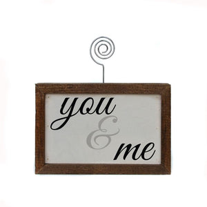 Tabletop Picture Block - You & Me