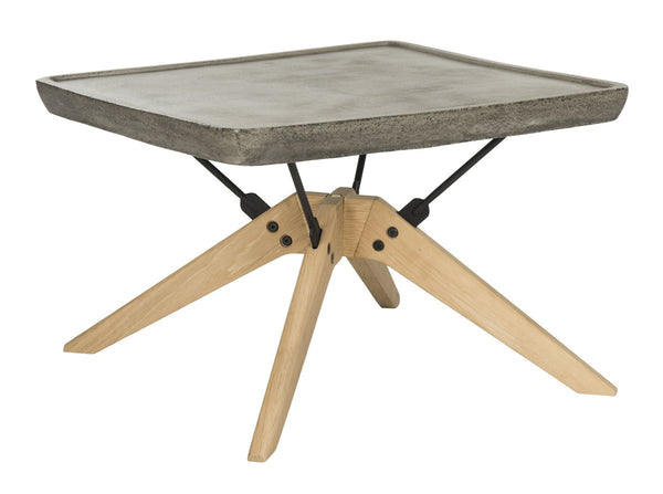 Delartin Indoor/Outdoor Modern Concrete Coffee Table