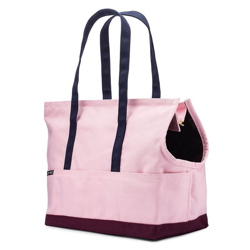 Bolso Canvas Pet Tote Rosado/Burdeo