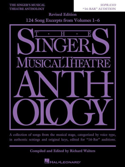 The Singers Musical Theatre Anthology – Soprano 16-Bar Audition