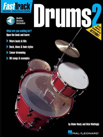FastTrack Drums Method – Book 2 with Audio