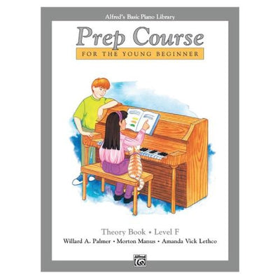 Alfred's Basic Piano Library Prep Course Theory Book Level F