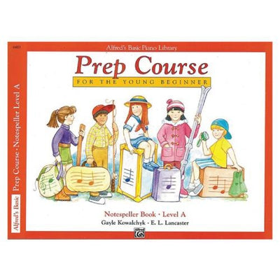 Alfred's Basic Piano Prep Course Notespeller Book Level A
