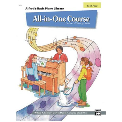 Alfred's Basic Piano All-in-One Course Book 4