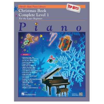 Alfred's Basic Piano Top Hits Christmas Complete Level 1 For The Late Beginner