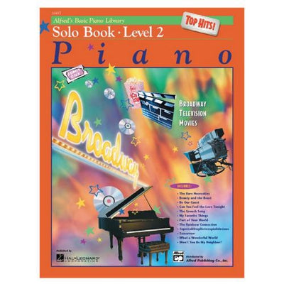 Alfred's Basic Piano Top Hits Solo Book Level 2 with CD