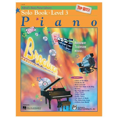 Alfred's Basic Piano Top Hits Solo Book- Level 3 with CD