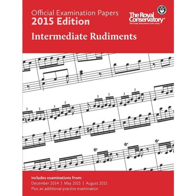 RCM 2015 Intermediate Rudiments Examination Papers