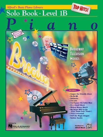 Alfred's Basic Piano Top Hits Solo Book Level 1B