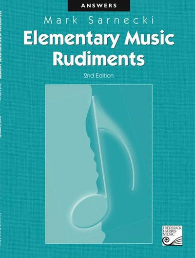 Elementary Music Rudiments Answers
