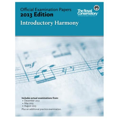 2013 RCM Introductory Harmony Test Papers
