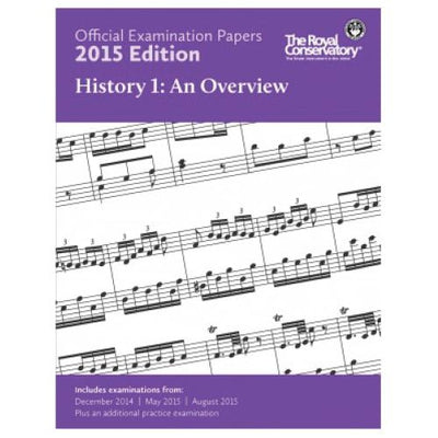 2015 RCM Music History 1 Exam Papers