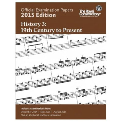 2015 RCM History 3 Exam Papers