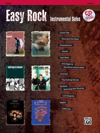 Easy Rock Instrumental Solos, Level 1 - Flute