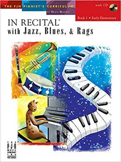 In Recital with Jazz Blues & Rags 1 Bk&CD