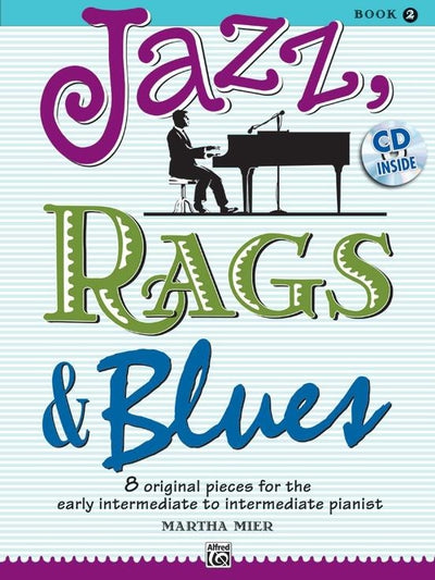 Jazz, Rags & Blues, Book 2 with CD