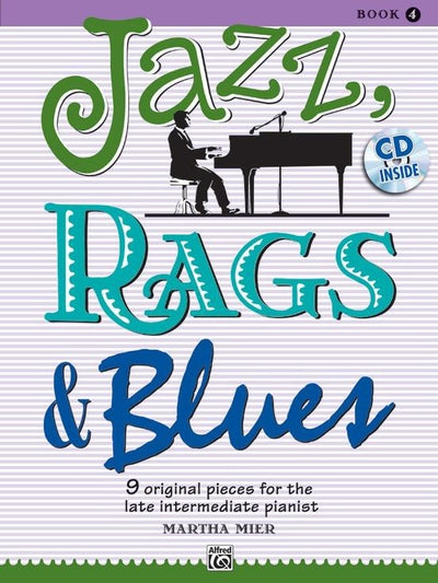Jazz, Rags & Blues, Book 4 with CD
