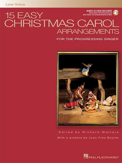 15 Easy Christmas Carol Arrangements: Low Voice with CD