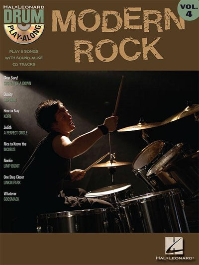 Modern Rock Drum Play-Along Volume 4
