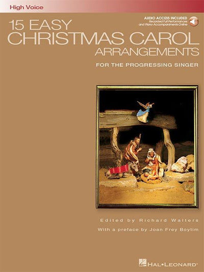 15 Easy Christmas Carol Arrangements - High Voice with CD