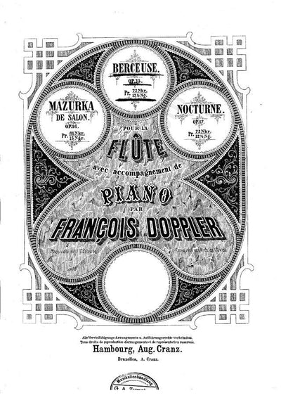 Berceuse - For Flute And Piano - Francois Doppler