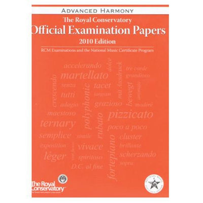 RCM Advanced Harmony Exam Papers 2010