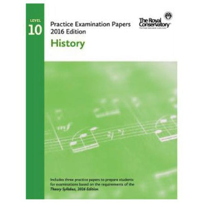 RCM 2016 Examination Papers Level 10 History