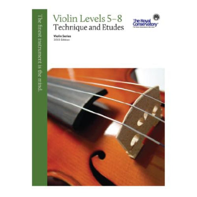 RCM Violin Technique and Etudes Levels 5-8