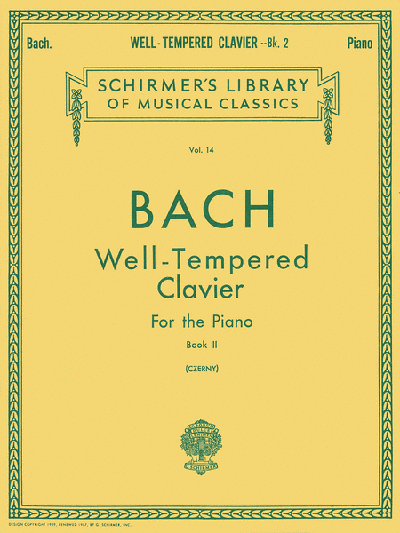 Bach - Well Tempered Clavier For The Piano Book 2