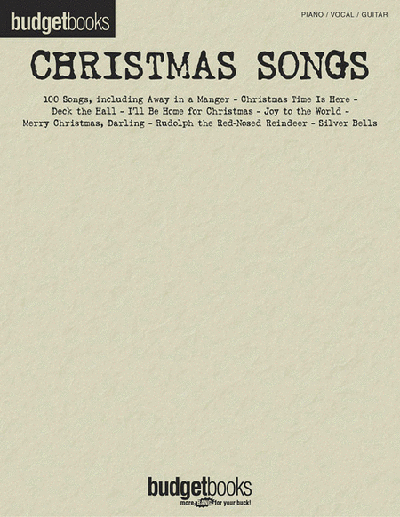Christmas Songs Budget Book